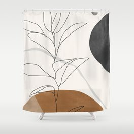 Abstract Art /Minimal Plant Shower Curtain
