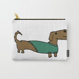 Daschund with sweater Carry-All Pouch
