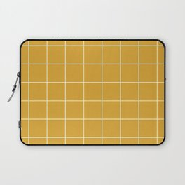 Yellow #9 Grid Stripe Lines Minimalist Geometric Line Stripes Laptop Sleeve