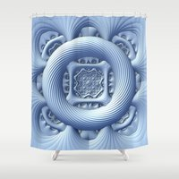 frozen Shower Curtains featuring Frozen by Lyle Hatch