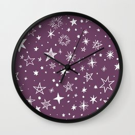 Multiple shapes and sizes stars IX Wall Clock