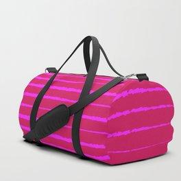 Abstract Zebra — Pink Duffle Bag