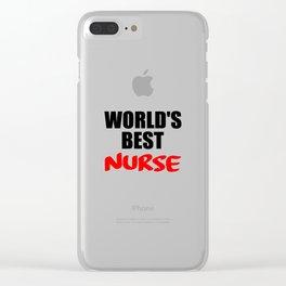worlds best nurse Clear iPhone Case