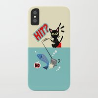 fishing iPhone & iPod Cases featuring Fishing by BATKEI