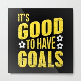 Goal Soccer Metal Print