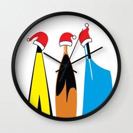 Christmas Rowing 1 Wall Clock