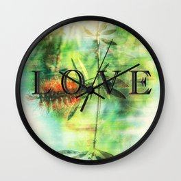 love in the wild Wall Clock