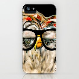 Hipster Owl iPhone Case