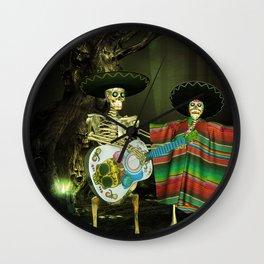 Singing and dancing sugar skeleton Wall Clock