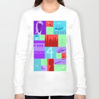 divergent Long Sleeve T-shirts featuring Divergent Collage by Anthony M. Sennett
