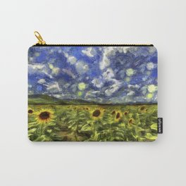 Summer Sunflowers Van Gogh Carry-All Pouch