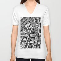 frames V-neck T-shirts featuring Frames by Mark Alder