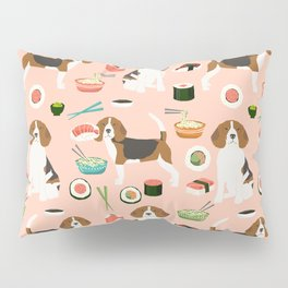 beagle sushi dog lover pet gifts cute beagles pure breeds Pillow Sham