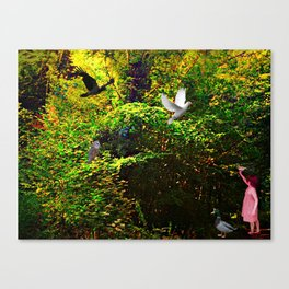 Introducing a New Friend Canvas Print
