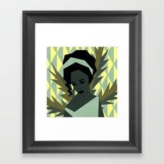 The shy girl Framed Art Print