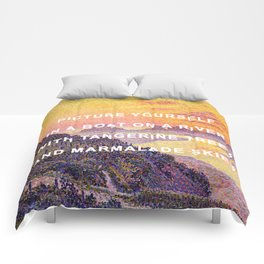 Sunset in the Sky with Diamonds Comforters