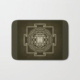 Sri Yantra XI monochrome Bath Mat