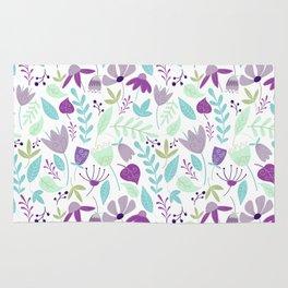 Flowers Make Me Happy Pattern Rug