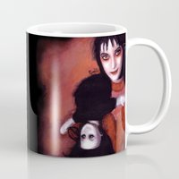 lydia martin Mugs featuring Lydia Deetz by Rouble Rust