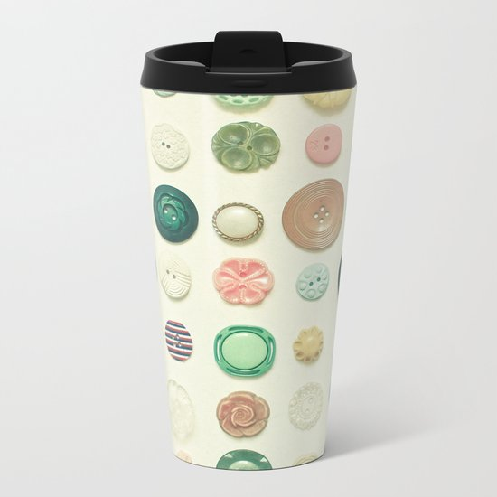 The Button Collection Metal Travel Mug
