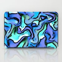 percy jackson iPad Cases featuring Design PERCY abstract,blue by MehrFarbeimLeben