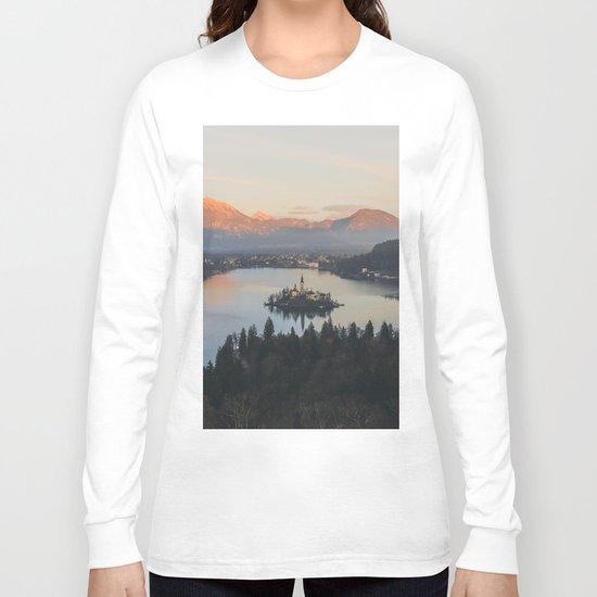 Lake Bled, Slovenia II Long Sleeve T-shirt