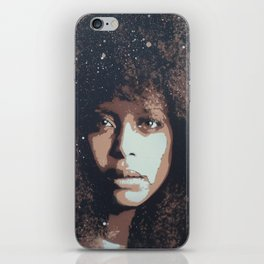 Musician Queen Erykah Badu stencil art unique painting iPhone Skin
