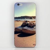 vans iPhone & iPod Skins featuring Beached Vans by Zakvdboom Designs