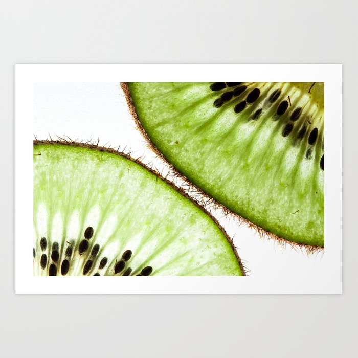 Macro photo of kiwifruit Art Print