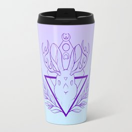 Lunar Rabbit / Jackalope // Purple Travel Mug