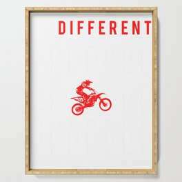 dirt-bike be different t-shirt for merry christmas Serving Tray