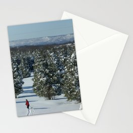 Alone in the Snow Stationery Cards
