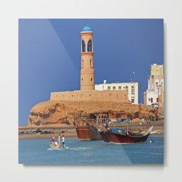 Oman Sur port Metal Print