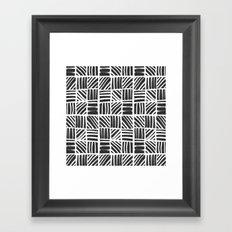 Weave Pattern - Black Framed Art Print