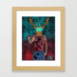 Hotline Miami deer mask guy Framed Art Print