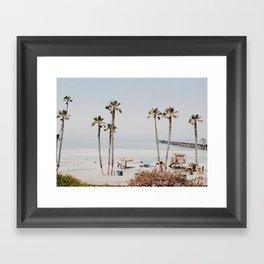 palm trees x / summer cali vibe Framed Art Print
