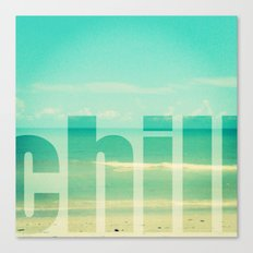 Chill - Photograph - Ocean, beach, waves Canvas Print