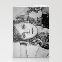 emma watson Stationery Cards featuring Emma Watson by Lindsay Hall