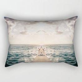 Kaleidoscape: Caye Caulker Rectangular Pillow