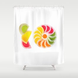 multicolored chewy gumdrops sweets Shower Curtain