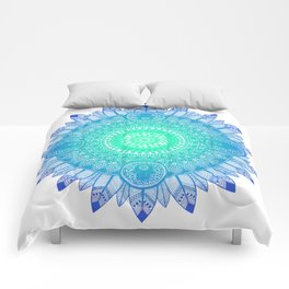 Mandala Blues Comforters