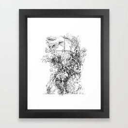 around there somewhere Framed Art Print