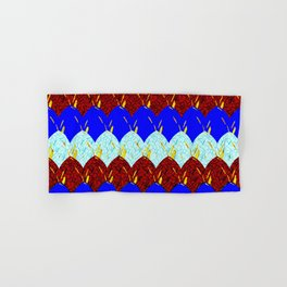 Red White and Blue Scales Hand & Bath Towel