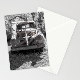 Abandoned Truck Phillipsburg Missouri Gutted Gymnasium Route 66 Stationery Cards