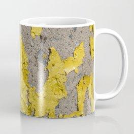 Yellow Peeling Paint on Concrete 2 Coffee Mug