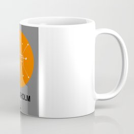 Stockholm Orange Subway Map Coffee Mug