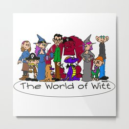 The Cast of The World of Witt Metal Print