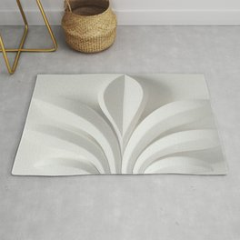 White sculpture Rug