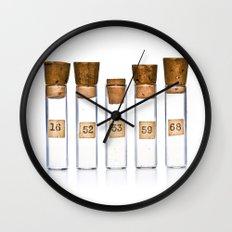 Lab Vials Wall Clock