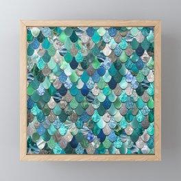 Mermaid Art, Sea,Teal, Mint, Aqua, Blue Framed Mini Art Print